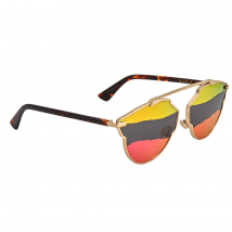 Dior orange grey pink mirror Aviator Ladies Sunglasses DIORSOREALA 0J5G/5A 59