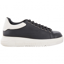 Emporio Armani Men's Black Platform Sneakers X4X159-XL544-C11