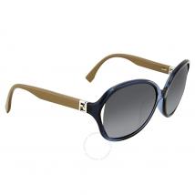 Fendi The Fendista Oversize Dark Grey Shaded Asia Fit Sunglasses FF 0032/F/S 7RB\9O