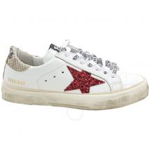 Golden Goose Deluxe Brand Ladies Glitter Star Low-Top Sneakers G36WS127.M7
