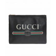 "Gucci Men's  Print Leather Portfolio Bag (12"" x 9.5"") 500981 0GCAT 8163"