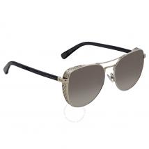 Jimmy Choo Gray, Gold Gradient Aviator Ladies Sunglasses SHEENA/S 58FQ 58