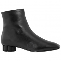 Salvatore Ferragamo Ladies Black Flower Heel Boots 01N311 693095