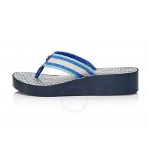 Tory Burch Ladies Gemini Link Wedge Flip-flops in Blue 61714-430