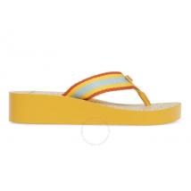 Tory Burch Ladies Gemini Link Wedge Flip-flops in Yellow 61714-722