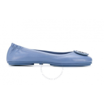 Tory Burch Ladies Minnie Logo Ballet Flats in Blue 73389-400