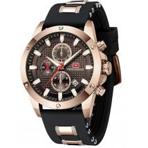Đồng hồ nam chính hãng Mini Focus sang trọng - Color: Brown NEW