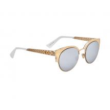 Dior ama Mini Sup Silver Mirror Cat Eye Ladies Sunglasses DIORAMAMINI J5G/DC 50