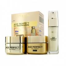 L'Oreal L'Oreal Age Perfect Cell Renew Programme Night Cream 50ml + Day Cream SPF 15 50ml + Serum 30ml, 3pcs 3061376210612