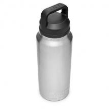 Bình Giữ Nhiệt Cao Cấp YETI Rambler 36oz (1.08L) Bottle Chug Cap - Màu Stainless
