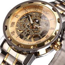 Đồng hồ nam ALPS Men's Classic Skeleton Stainless Steel Mechnical Watch with Link Bracelet