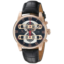 Đồng hồ nam Lucien Piccard 'Bosphorus' Quartz Stainless Steel and Leather Casual Watch, (Model: LP-40045-RG-01)