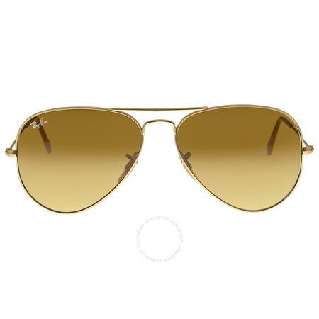 Ray Ban RayBan Aviator Gold Brown Gradient 58mm Unisex Sunglasses 11285 RB3025 112/85 58-14