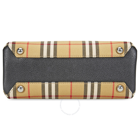 Burberry Small Banner in Vintage Check and Leather- Black 4076948
