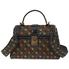 Bottega Veneta Ladies Shoulder Bag s Black/Lt Brown Bv Pizz Small Ayers Check 493690 V0EK2 1193