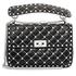 Valentino Garavani Free Rockstud Spike Medium Shoulder Bag- Black PW2B0122RVH-0NO