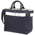 Burberry Ladies Satchel Regency Blue Medium Belt Bag 4073338